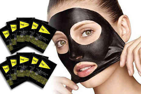 Tag Cone - 10 blackhead removing peel off mud masks - Save 87%