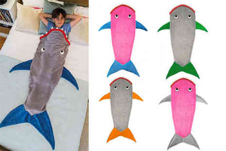EF Mall - Kids shark tail blanket choose from five colours - Save 82%