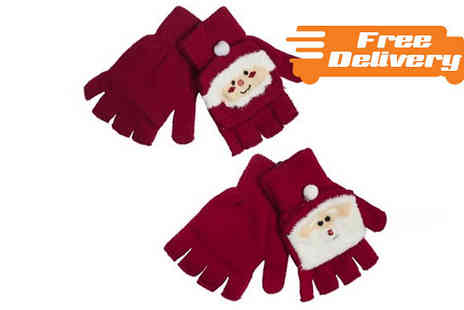 TOP FASHIONS - Ladies Christmas Mitten Gloves With Free Delivery - Save 0%