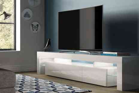 Groupon Goods Global GmbH - Peru High Gloss TV Cabinet in Choice of Colour and Size With Free Delivery - Save 0%