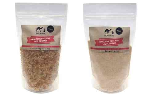 Groupon Goods Global GmbH - Himalayan Pink Salt 500g Course or Fine One Pouch or Two Pouches - Save 0%