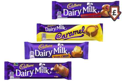 Groupon Goods Global GmbH - 48 Cadbury Chocolate Bars in Choice of Flavours With Free Delivery - Save 0%