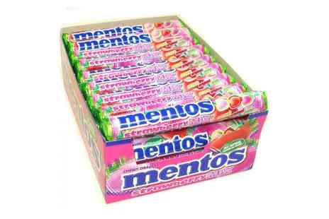 Groupon Goods Global GmbH - One Box of 40 Rolls of Mentos Strawberry Mix With Free Delivery - Save 0%