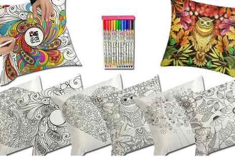 Groupon Goods Global GmbH - Graffiti Pillow Covers with Colouring Pens - Save 0%