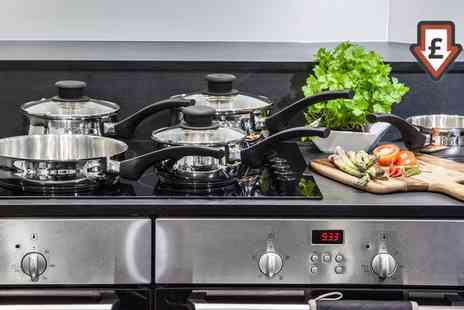 Groupon Goods Global GmbH - Tower Five Piece Stainless Steel Pan Set With Free Delivery - Save 0%