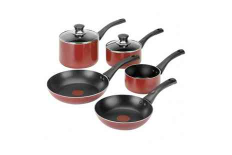 Groupon Goods Global GmbH - Tefal Five Piece Pan Set With Free Delivery - Save 0%