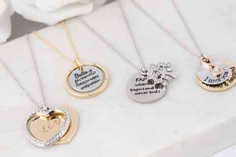 Neverland Sales - Inscription Necklaces with Crystals from Swarovski Include Free Delivery - Save 0%