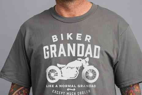 Groupon Goods Global GmbH - Mens Biker Grandad Gift TShirt - Save 0%