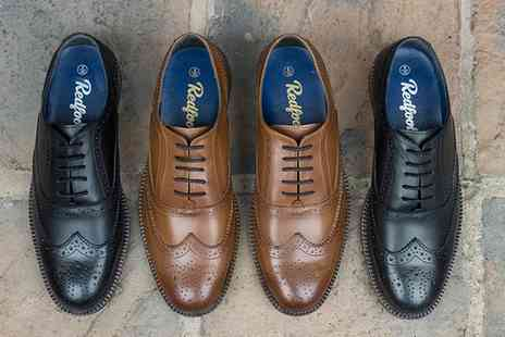 Groupon Goods Global GmbH - Mens Chunky Oxford Brogue Shoe in Choice of Colour With Free Delivery - Save 79%