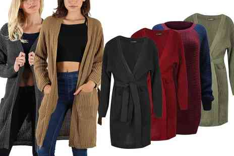 Groupon Goods Global GmbH - Be Jealous Belted Midi Cardigan in Choice of Colour - Save 0%