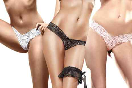 Groupon Goods Global GmbH - Baci Flower Lace GString Three Pack - Save 0%