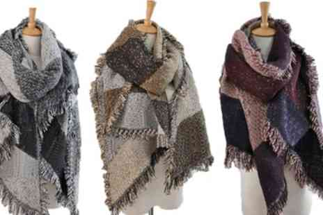 Groupon Goods Global GmbH - One or Two Oversized Fashion Scarves in Choice of Colour - Save 67%