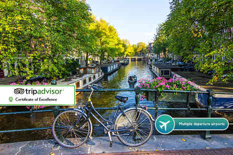 ClearSky Holidays - Two or three night 4 Star Amsterdam break with flights and Anne Frank Museum entry - Save 45%