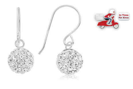 DTA Trading - Pair of sterling silver drop ball earrings - Save 77%