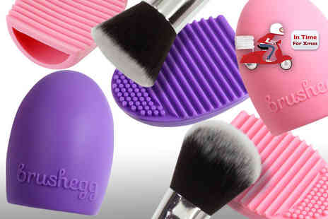 Ckent - Brushegg brush cleaner available in pink or purple - Save 67%