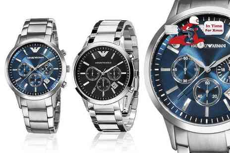 WRISTY BUSINESS - Armani Mens watch choose from two designs - Save 56%