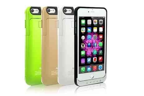 Groupon Goods Global GmbH - Charger Case for iPhone 5 or 6 With Free Delivery - Save 75%