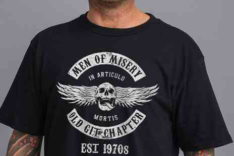 Groupon Goods Global GmbH - Men of Misery Est 1970s Gift T Shirts - Save 0%