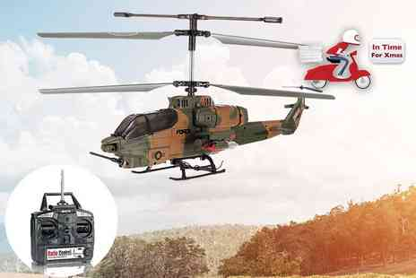Comtech Logic - Apache helicopter drone choose from three designs - Save 49%