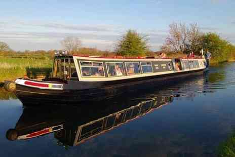 Norbury Wharf - Three hour canal cruise for two including a fish and chips meal each - Save 58%