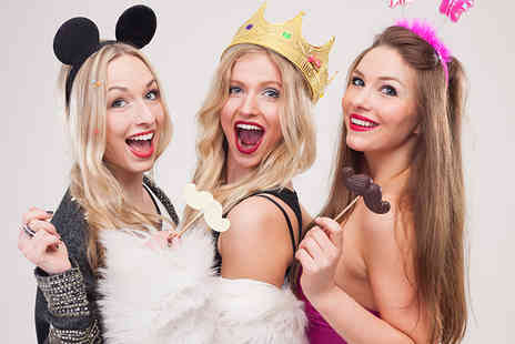 The PhotoBooth Club - Three hours of photobooth hire including an attendant and props - Save 66%