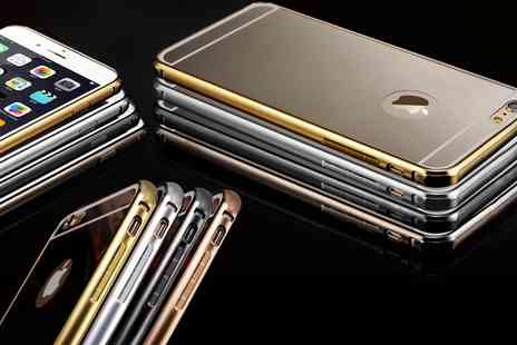 Groupon Goods Global GmbH - Aluminium Mirror Metal Case for iPhone 5, 5s, 6, 6s - Save 75%