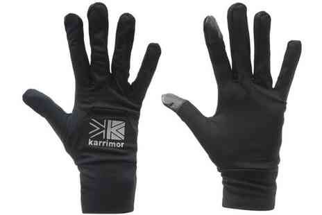 Groupon Goods Global GmbH - Mens and Womens Karrimor Touchscreen Sports Gloves - Save 0%