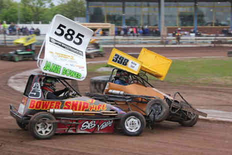 Startrax - £14 for entry for two people to a day of stock car and banger racing, or £19 for a family ticket from Startrax - choose from two locations and save up to 56% - Save 56%