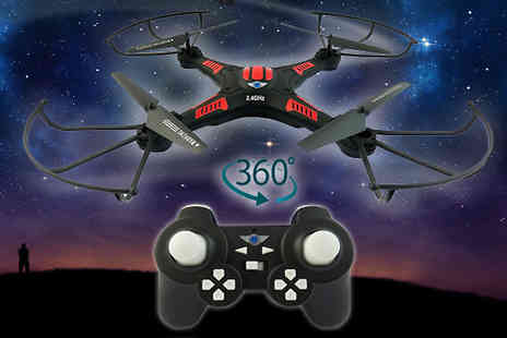 Toy Galaxy - 360 Rotating Stunt Drone with HD Camera - Save 0%