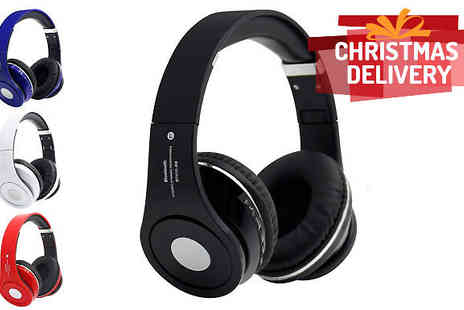 Comxuk - Three in One Wireless Headphones with TF Card Support and FM Radio Four Colours - Save 67%