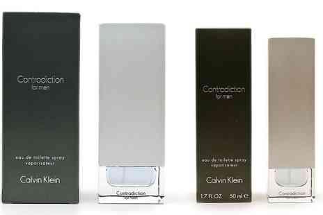 Groupon Goods Global GmbH - Calvin Klein Contradiction For Men EDT 50ml or 100ml Spray - Save 56%