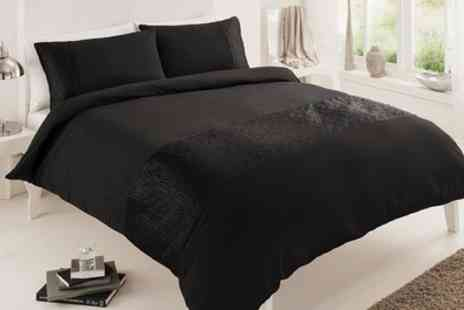 Groupon Goods Global GmbH - Pure Embellished Duvet Set in Choice of Size - Save 57%