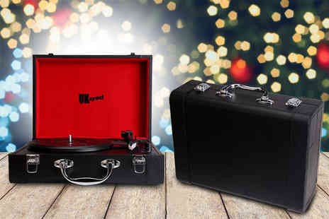 Internet Shop UK - Portable suitcase vinyl player choose black or brown - Save 69%