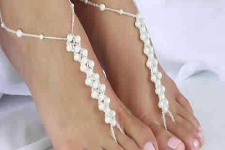 Shapelle - Faux Pearl Anklet - Save 57%