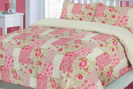 Groupon Goods Global GmbH - Reversible Patchwork Duvet Set in Choice of Size and Colour - Save 74%