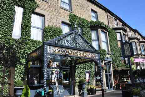 Harrogate Brasserie Hotel - Overnight stay for two with breakfast and a bottle of Prosecco - Save 43%