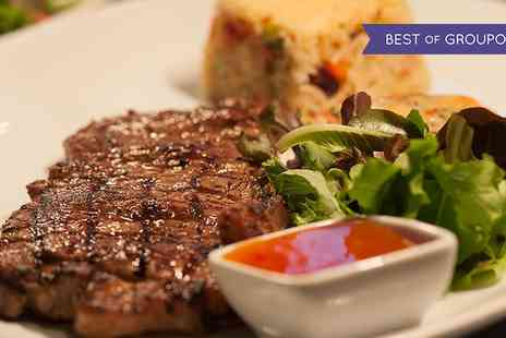1573 Bar & Grill - Two Course Steak and Seafood Meal with Hot Drinks for Two or four - Save 52%