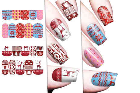 Candy Chic - Pack of Christmas nail transfers - Save 67%