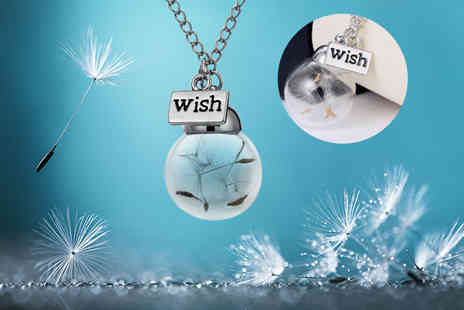 My Boutique Store - Wish necklace with dandelion seed charm - Save 87%
