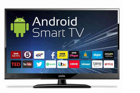 TV Village - 40 inch Android Smart widescreen LED 4K HD TV with built in wifi and Freeview - Save 28%