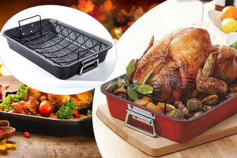 A365  - Jumbo roasting tray choose from black and red - Save 60%