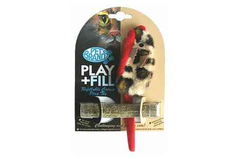Groupon Goods Global GmbH - Play and Fill Refillable Cat Toy or Three Catnip Tubes - Save 0%