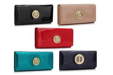 Groupon Goods Global GmbH - Pearl Fashion Patent Purse, Wallet With Metal Decoration in Choice of Colour - Save 79%