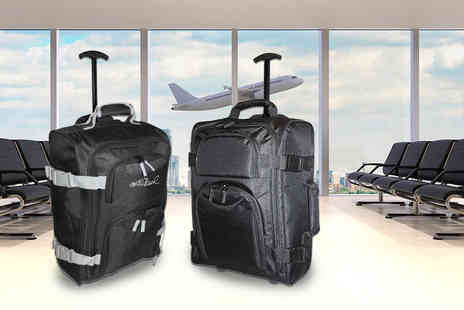 Pearl Info - Lightweight wheeled cabin suitcase with 40 litre capacity choose from black and grey - Save 81%