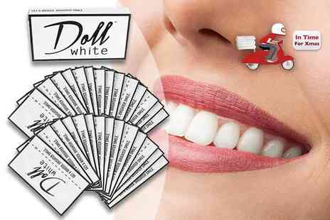 Doll White - 14 day pack of teeth whitening strips - Save 52%