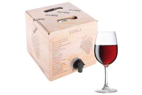 MONTE REGIO ALIMENTACIÓN ARTESANAL SOCIEDAD ANÓNIMA - Five Litre Box of Spanish Red Wine with Free Delivery - Save 0%