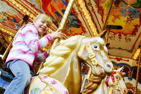 M&Ds Theme Park - Soft Play Entry with Carousel Ride and Meal for Two Children - Save 50%