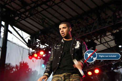 Tour Center - Overnight European hotel stay with ticket to see Drake in concert perfect gift for Drake fans - Save 0%