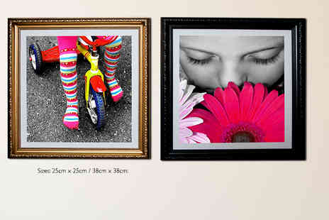 WHOARTNOW - Personalised 25cm x 25cm framed canvas print - Save 93%