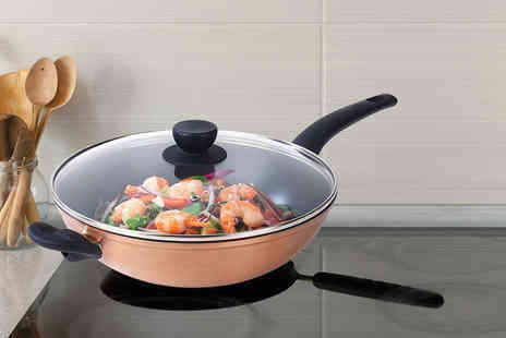 Up Global Sourcing - Salter copper effect wok saucepan - Save 56%